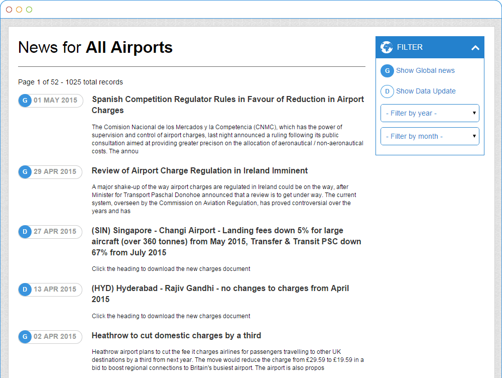 Airport Charges News and Updates in AirportCharges